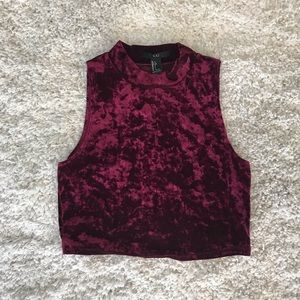 Forever 21 Red Velvet Crop Top